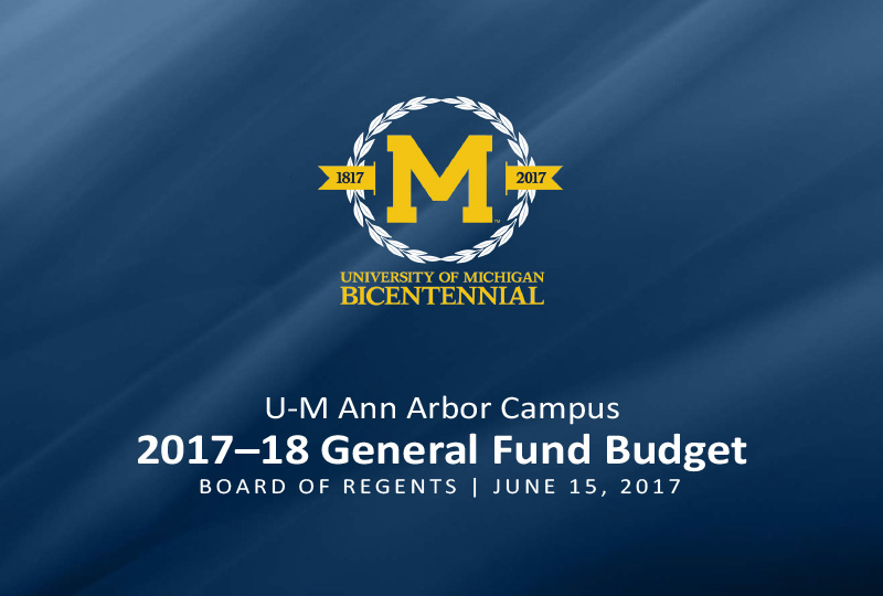2017–18 General Fund Budget title slide
